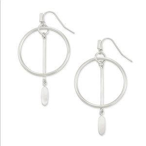 Kendra Scott Nalani Open Frame Earrings in Silver